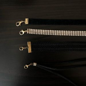 Charlotte Russe Jewelry - 4 choker necklaces